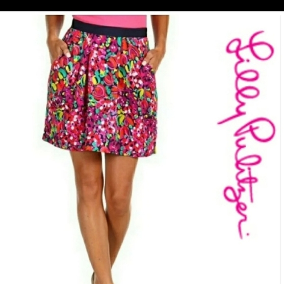 Lilly Pulitzer Clover Confetti Skirt Sz 0 EUC